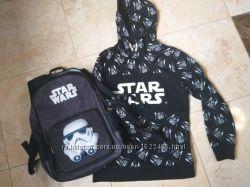 Фирменный рюкзак  свитшот H&М STAR WARS. Состояние новых