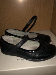 Туфли балетки для девочки школьные чёрные