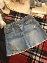 Zara джинсовая юбка