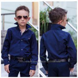 Стильная рубашка на мальчика для школы