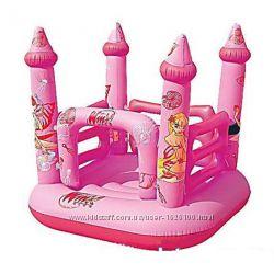 Детский надувной батут BestWay 92010 Замок Винкс