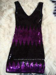 Выпускное  вечернее платье с паеток, распродажа
