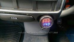 Термометр, вольтметр в прикуриватель цифровой
