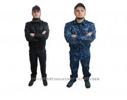 Костюм мужской Охранник камуфлированныйчерного цвета