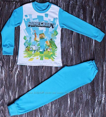 Пижама для мальчика от 4 до 6 лет майнкрафт Стив Minecraft майн крипер