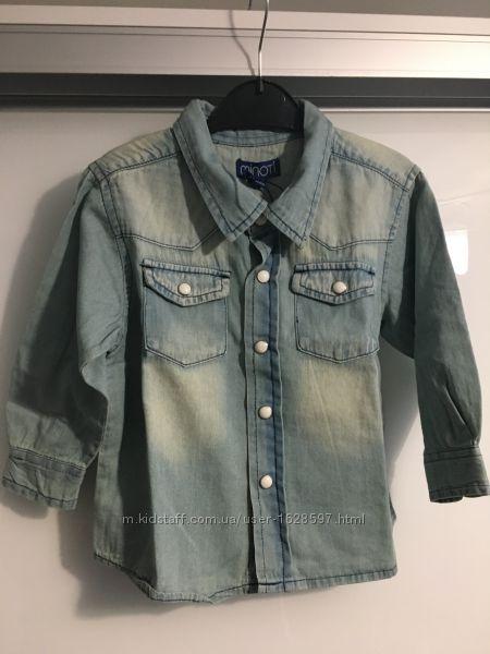 Стильная джинсовая рубашка Minoti на 1, 5-2 года