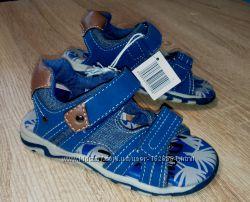 Сандали грязно голубого цвета серые на липучках 26 и 27 размер Lupilu
