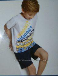 Футболка и шорты комплект 2-8 лет Миньоны
