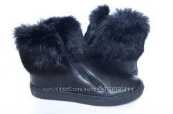 Стильні шкіряні черевики для дівчаток з опушкою aa600ec9ca186
