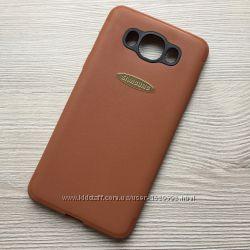 Матовый коричневый чехол для Samsung Galaxy J7 J710 2016 года силиконовый