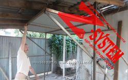 Подъемные ворота Z-system без направляющих и роликов в гараж или двор