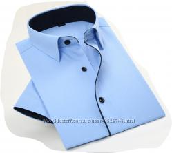 рубашка с коротким рукавом 40 ворот