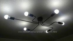 Крутые люстры в стиле LOFT - Паук 6 ламп