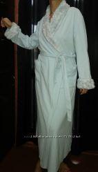 Marks & spencer халат длинный флис мех