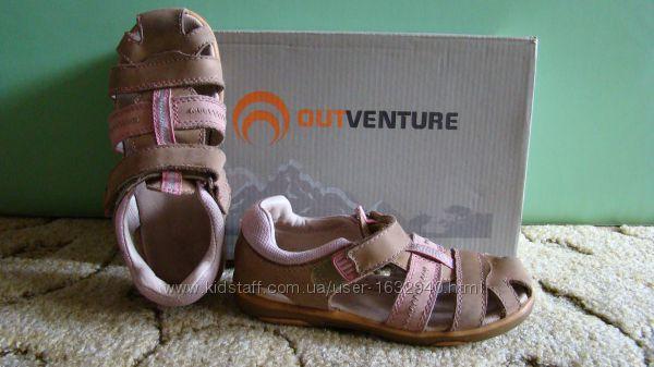 Сандалии для девочек Outventure  кожа 30 размер