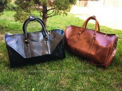 e82ce15d1c30 Дорожная сумка из эко кожи богатая черная коричневая ручная кладь ...