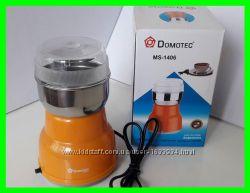 Кофемолка DOMOTEC MC 1106 нержавеющая 200w белая и оранжевая