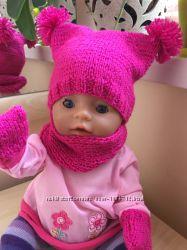 Одежда для беби борн комплек шапочка