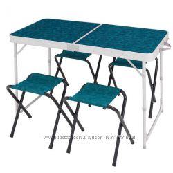 стіл туристичний і 4 кріса QUECHUA  для кемпінга.