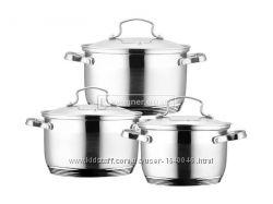 Набор посуды Wellberg WB-02264, 2. 1л, 2. 9л, 3. 9л