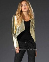 Куртка золотого цвета кожа, gold cut германия, размер s