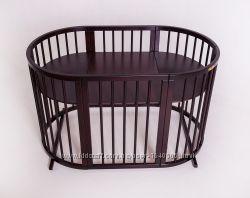 Овальная кроватка 9в1 Royal Sleep Classic Венге