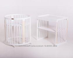 Овальная кроватка 9в1 Royal Sleep Limited Белая