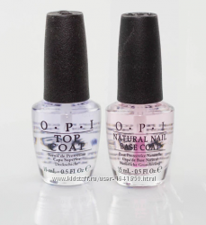 Набор opi nail top & base coats для натуральных ногтей