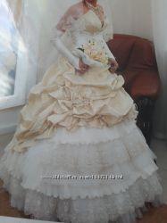 продам свадебное платье бу в хорошем состоянии есть фата и перчатки