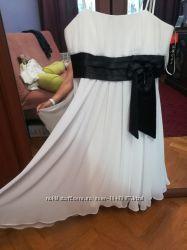 Нарядное белое платье шифон