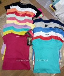 Немецкие однотонные разноцветные футболки и регланы на любой возраст