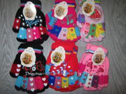 Перчатки двойные AURA Венгрия для девочек