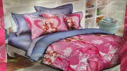 Качественное оригинальное подростковое постельное белье 3-д Ранфорс Турция