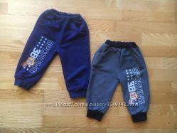 2 пары хлопковых с начесом спортивных штанов