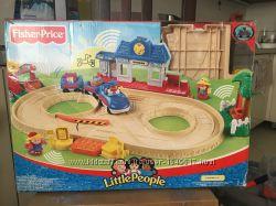 Первая железная дорога и поезд Little People от Fisher-Price