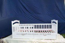 Кровать детская кроватка белая натуральное дерево 16080 или 19080, в нали