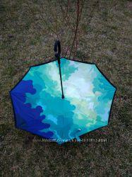 Зонт наоборот ветрозащитный антизонт оригинал облака upbrella зонт трость