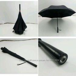 Антизонт наоборот зонт обратного сложения мужской классический зонт трость