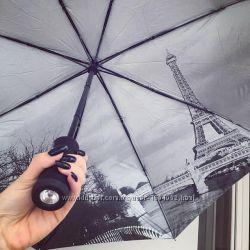 Автоматический складной зонт Эйфелевая башня
