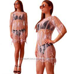 879e5c03f6606 пляжная одежда, пляжные туники, ручная работа, вязание крючком, 500 ...