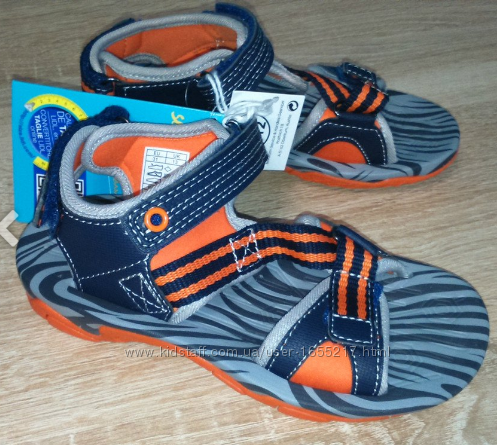 Босоножки сандали оранжевые на липучках 30 размер Pepperts