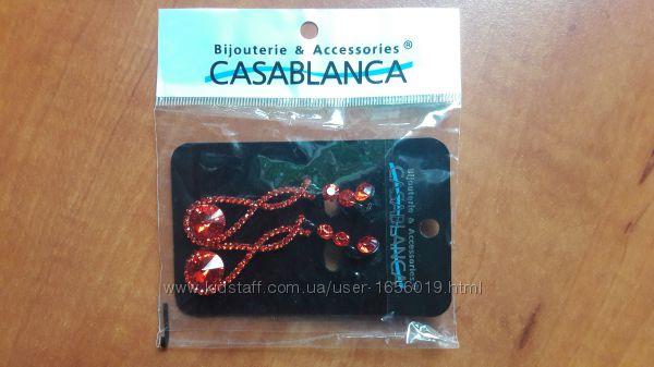 Сережки Casablanca, рубінового кольору