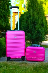 Франция Airtex world line  поликарбонат чемодан розовый и бьюти кейс