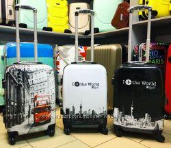 Большой выбор Яркие чемоданы для ручной клади пластиковые Киев чемодан