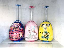 Детские чемоданы пластиковые для мальчиков и девочек Киев магазин