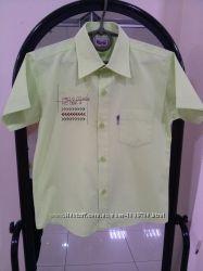 Рубашка школьная с коротким рукавом для мальчика 6 лет, ТМ WikiMiki Турция