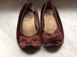 Балетки бархатные р. 26 цвет бордо