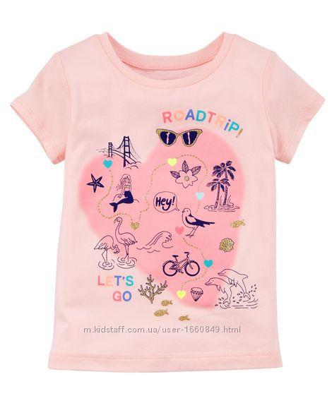 футболка Carters для девочки 2Т , 5Т