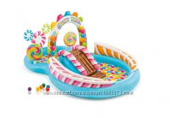 Детский надувной центр Intex 57149 Карамель 259 х 191 х 130 см с шариками