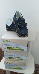 Детские кожаные ортопедические туфли ботиночки ECOBY 20-25 размер